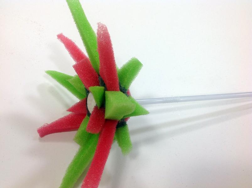 Blume aus Schwamm