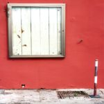 Hauswand in Rot