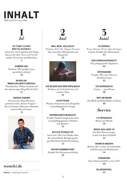 wamiki #3/2015 Inhaltsverzeichnis