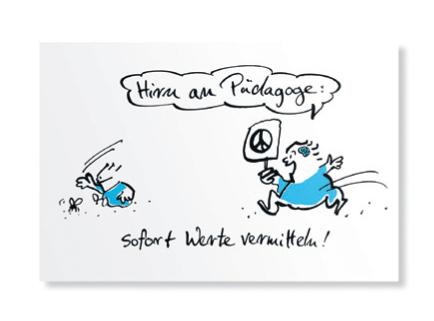 Postkarte Hirnlos 1 von Tasche