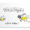 Hirn-Los Postkarten von Tasche