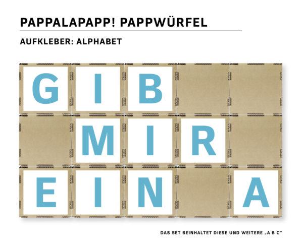 Extra: Aufkleber Alphabet