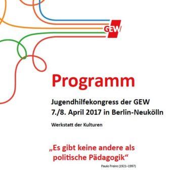 Der Kinder-und Jugendhilfekongress der GEW 2017