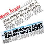 Zwei Zeitungen voller Grollartikel