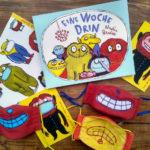 Eine Woche drin- Pappbuch und Masken von Nadia Budde