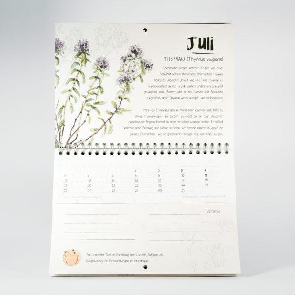 Krautikus Kalender im Juli