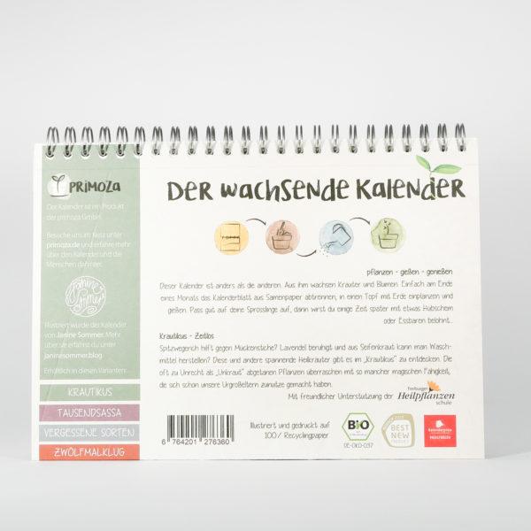 Krautikus Kalender Rückseite