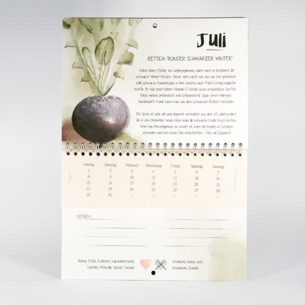 Vergessene Sorten Kalender Detail Juli
